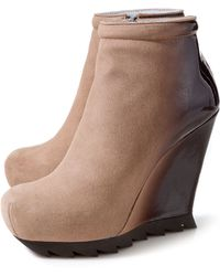 Camilla Skovgaard Ankle Wedge Boot with Saw Sole - Lyst