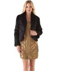 Haute Hippie Short Rabbit Fur Jacket - Lyst