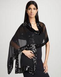 Ilana Wolf - Sequined Silk Chiffon Wrap - Lyst