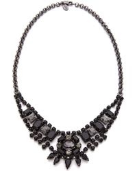 Juicy Couture - Jet Rhinestone Bib Necklace - Lyst