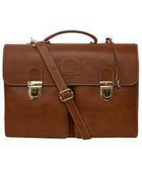 Calabrese Bags - Brown C2 Leather Briefcase - Lyst