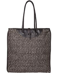 Calabrese Bags - Brown Rotolo Tweed Tote Bag - Lyst