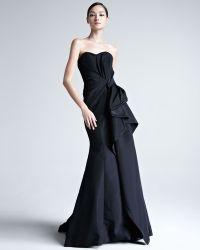 Carolina Herrera Faille Strapless Gown - Lyst