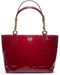 Coach Madison Patent Tote - Lyst