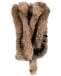 Giuseppe Zanotti Hooded Fur Gilet brown - Lyst