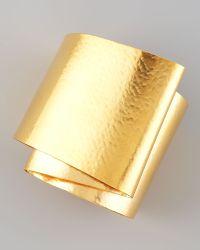 Herve Van Der Straeten Wide Ribbon Cuff - Metallic