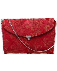 L'Wren Scott - Ponyskin Brocade Envelope Clutch - Lyst