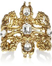 Tom Binns - Rokoco Dumont 22karat Goldplated Swarovski Crystal Cuff - Lyst
