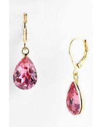 Cara Accessories Teardrop Earrings purple - Lyst
