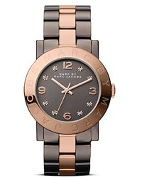 Marc By Marc Jacobs Amy Two Tone Bracelet Watch 36mm - Brown