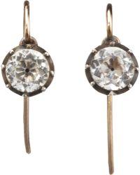 Olivia Collings - Rock Crystal Drop Earrings - Lyst