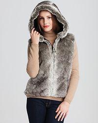 Surell Faux Fur Hooded Vest - Lyst