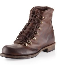 Vintage Shoe Company - Hammond Laceup Boot Chocolate - Lyst