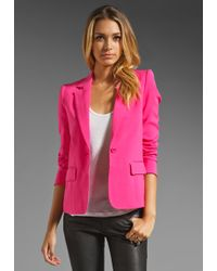 Alice + Olivia Elyse One Button Blazer - Lyst