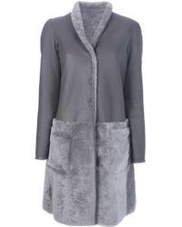 Emporio Armani Reversible Coat - Grey