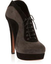 Alaïa Platform Lace Up Ankle Boot - Lyst