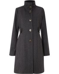 Kenneth Cole - Funnel Neck Wool Coat - Lyst
