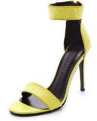 Nicholas - Jasmina Snake Sandals - Lyst