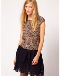 NW3 by Hobbs Nw3 Willow Floral Shell Top with Bow Details - Multicolour