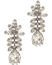 Tom Binns Crystal Drop Earrings - Lyst
