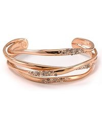 Alexis - Bittar Cuff Rose Gold and Crystal Orbitting - Lyst