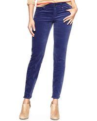 Gap Always Skinny Velvet Pants blue - Lyst