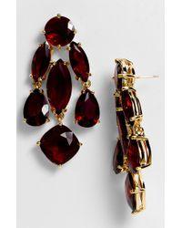 Kate Spade Statement Chandelier Earrings red - Lyst