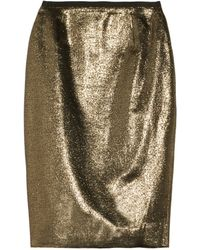 Tory Burch Brandy Metallic Woven Pencil Skirt - Lyst