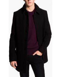 Burberry Brit Burberry Wool Blend Car Coat - Lyst