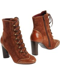 Marc By Marc Jacobs Ankle Boots brown - Lyst