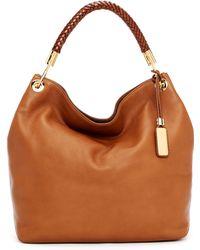 Michael Kors Skorpios Large Shoulder Bag Cinnamon Textured Leather 106