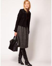 NW3 by Hobbs Wool Midi Skirt - Gray