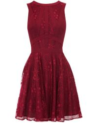 Oasis Gothic Lace Dress purple - Lyst