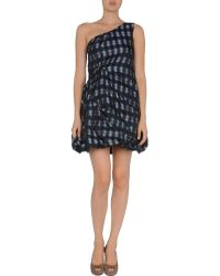 RED Valentino Short Dress blue - Lyst