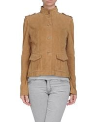 Replay Leather Outerwear - Natural