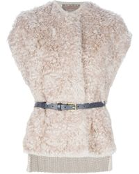 Space Shearling Gilet - Lyst