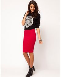 ASOS Collection Asos Pencil Skirt in Jersey - Lyst