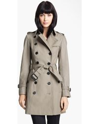 Burberry Prorsum Belted Twill Trench Coat - Lyst