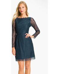 Shoshanna Minka Long Sleeve Chantilly Lace Dress - Lyst