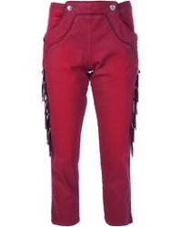 Isabel Marant Fringed Trouser red - Lyst