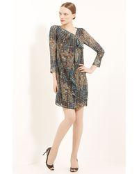 Piazza Sempione Geometric Print Silk Dress - Lyst
