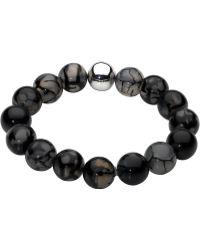 Kit Heath - Dew Bracelet Stone Bead Silver Ball - Lyst