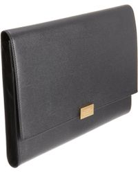 Smythson Grosvenor Ipad Clutch - Black
