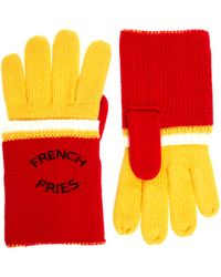 Love Asos French Fries Gloves - Yellow