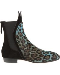 Alaïa Boots Leopard Print Shorthaired Calfskin - Lyst