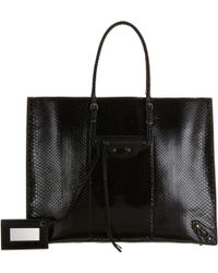 Balenciaga Papier A4 Python Tite Bag black - Lyst