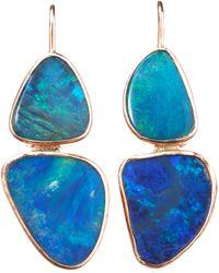Sandra Dini - Double Blue Opal Earrings - Lyst