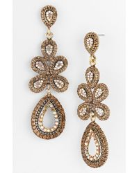 Tasha Ornate Linear Statement Earrings - Lyst