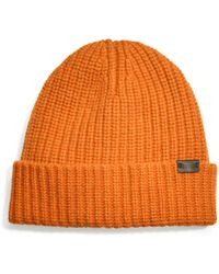Coach Cashmere Solid Ribbed Knit Cap - Lyst