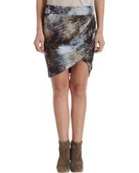 Helmut Lang Twist Mini Skirt - Lyst